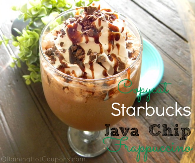 Starbucks Java Chip Frappuccino Copycat Recipe OR Double Chocolate