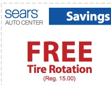 Sears free tire rotation coupon 2018
