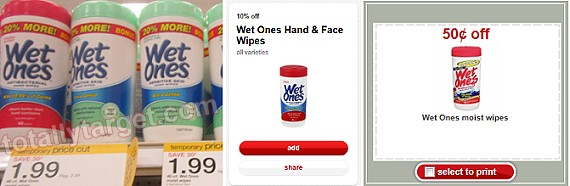 wet ones target deal Wet Ones Wipes Only $0.60 Each at Target!