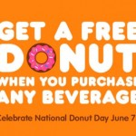 Free Doughnut at Dunkin Donuts on June 7th!
