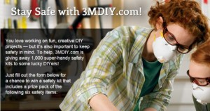 3mdiy 300x158 Enter to Win A 3M Safety Kits (1,000 Winners)