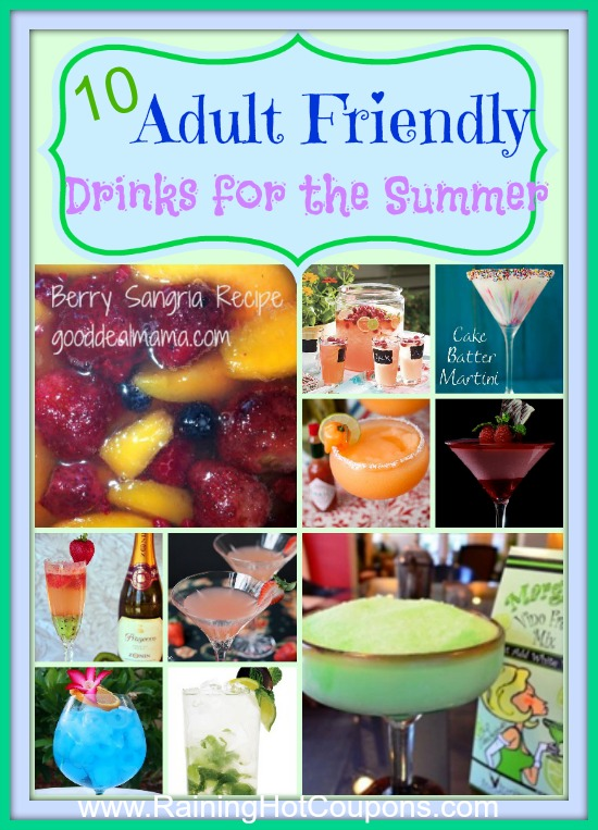 Adult Drinks 10 Adult Drink Recipes for the Summer