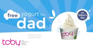 father's day freebie at TCBY