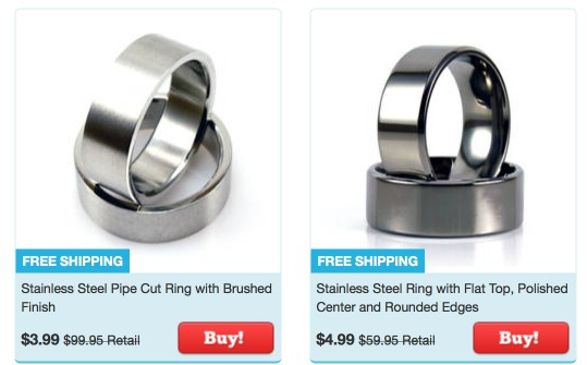 Wedding Rings Stainless Steel