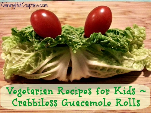 Vegetarian Recipes for Kids Crabbiless Guacamole Rolls Main