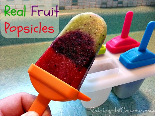 Vegetarian Recipes for Kids Real Fruit Popsicles