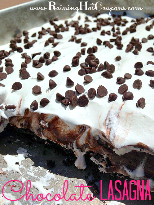 Chocolate Lasagna Recipe - This next recipe is one you will DEFINITELY want to keep on hand. It is one of the most popular desserts I make and we LOVE it!