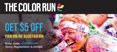 Its a Giveaway: 4 Tickets to The Color Run! + Get $5 off Registration Coupon Code! (The Most Colorful and Happiest 5k On the Planet!)