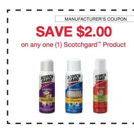 High Value 2 1 Scotchgard Pdf Coupon Walmart And Target