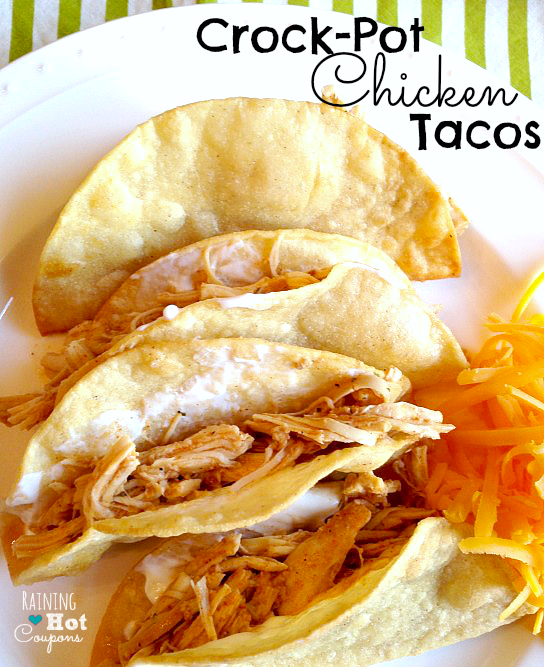crock pot chicken tacos 2 Crock Pot Chicken Tacos Recipe (Super Easy and Yummy!)