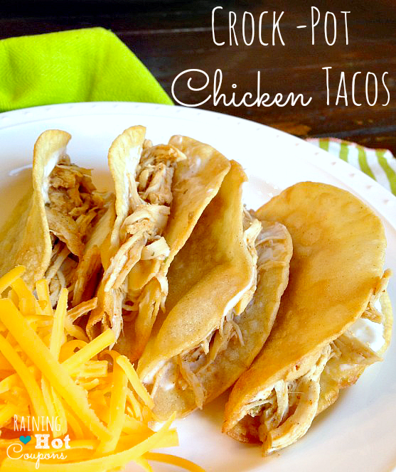 crock pot chicken tacos Crock Pot Chicken Tacos Recipe (Super Easy and Yummy!)