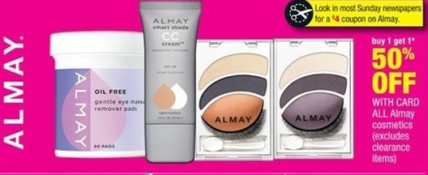 cvs almay Super High Value $4/1 Almay Cosmetic Coupon in 6/2 SmartSource Insert = Awesome Deals