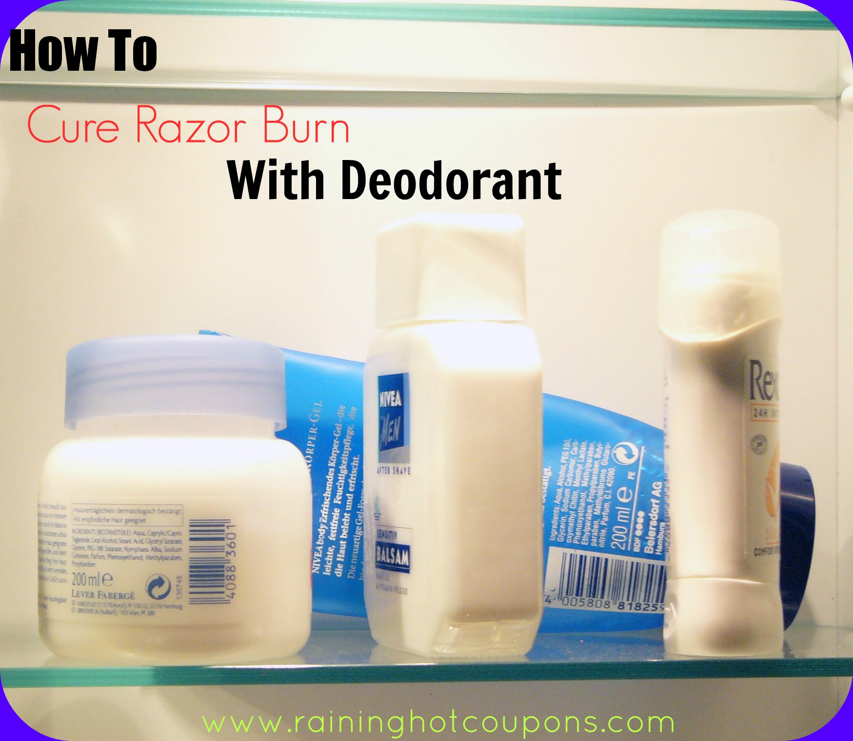 how to cure razor burn with deodorant