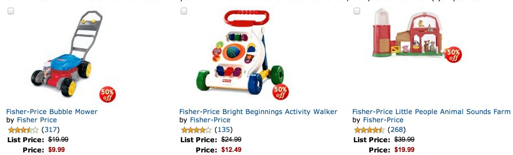 *HOT* Amazon: LOTS of Fisher Price Toys 50% off!