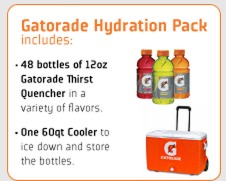 FREE Gatorade Hydration Pack 48 Bottles of Thirst Quencher + FREE Cooler (Little League Coaches!)