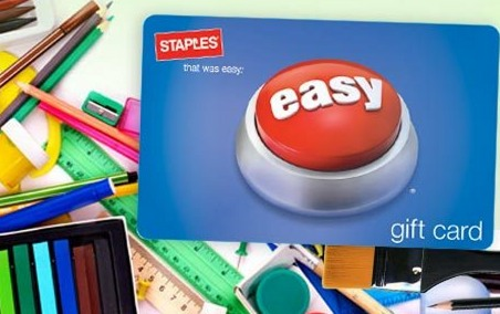 *HOT* Staples: $25 for a $40 Gift Card! (Perfect for Back to School Deals!)