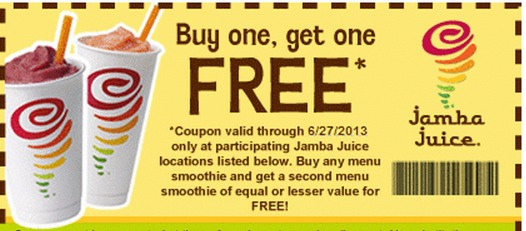 Highlights for Jamba Juice. As an early morning pick-me-up, after-workout boost or afternoon snack, smoothies from Jamba Juice can put the pep back in your step. The mouthwatering menu contains a solid list of fruits, add-in ingredients, flavors and blends that have the right proportions to taste fantastic.
