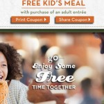 Olive Garden Coupon: FREE Kid's Meal with Entree Purchase