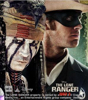 free fandango code to disney s the lone ranger 4 000