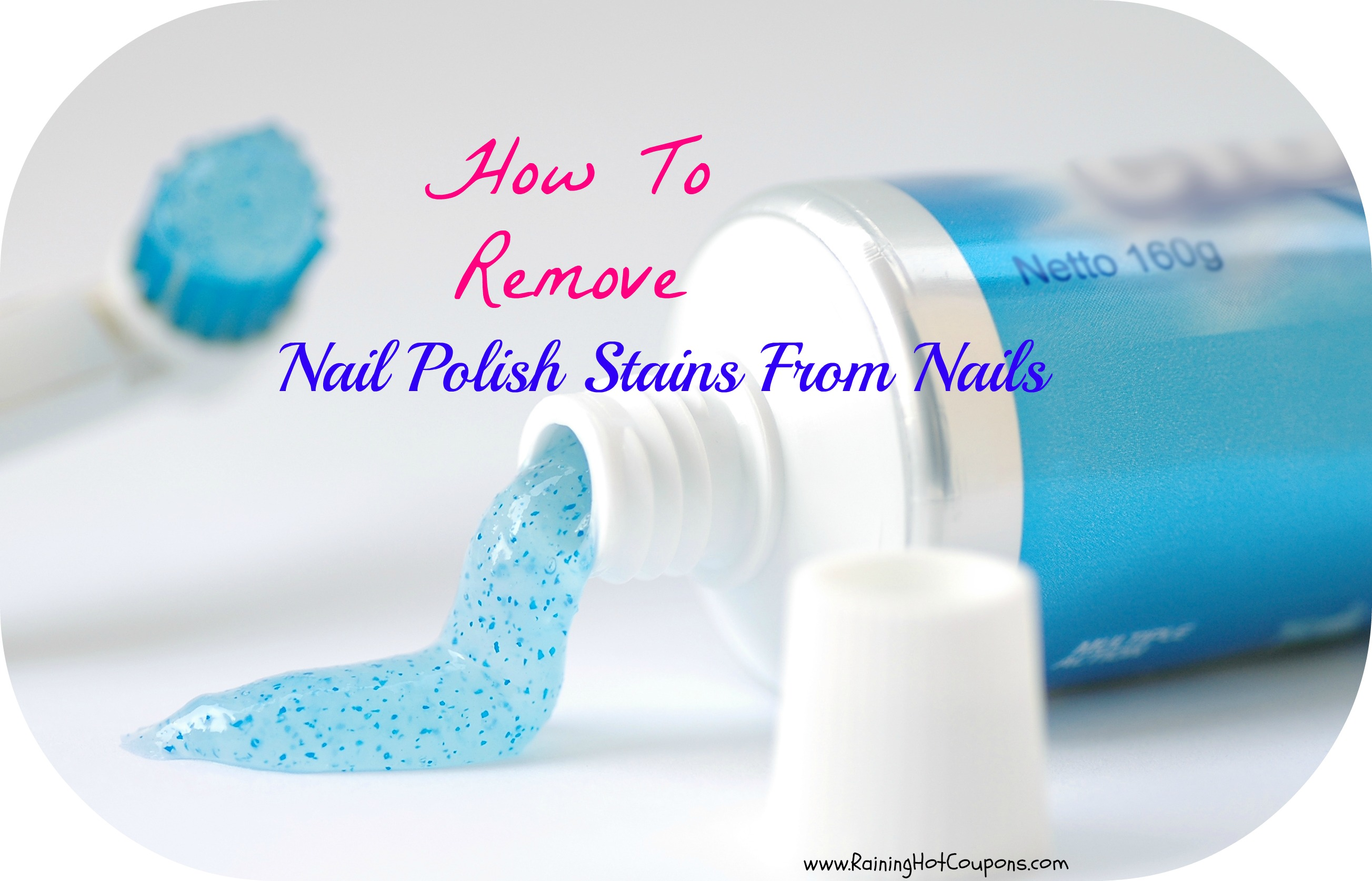 how to remove nail polish stains from nails