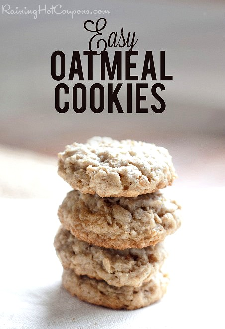 An easy oatmeal cookie recipe