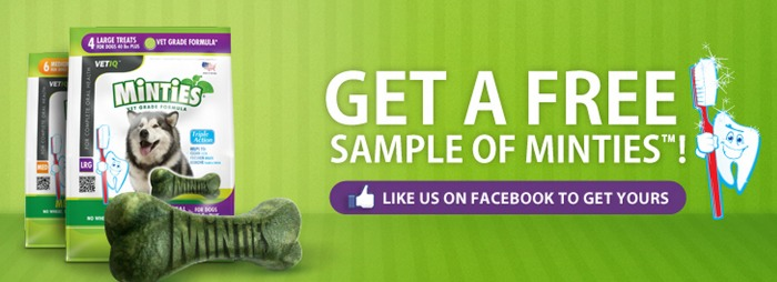 FREE Minties Dog Treats sample and coupon!
