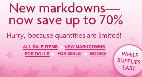 *HOT* American Girl Sale Up to 70% off   Items as Low as $2.00! (While Supplies Last!)