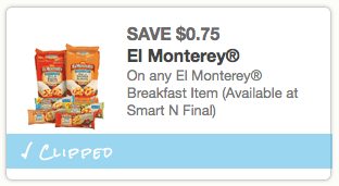 screen shot 2013 06 04 at 4 14 13 pm Rare $0.75/1 El Monterey Breakfast Item Coupon = Single Burritos Only $0.25 Each at Walmart