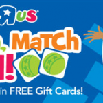 Toys R Us Scratch, Match and Win Game: Win $10, $20, or $500 Toys R Us Gift Cards