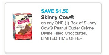 skinny cow Rite Aid: Skinny Cow Peanut Butter Creme Chocolates Only $1 Per Box (Starting 6/16)