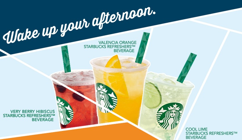 Starbucks: Half Off ANY Handcrafted Refreshers Beverage!