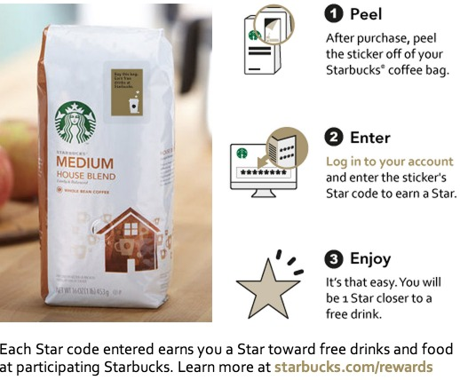 Where do you find star codes for starbucks