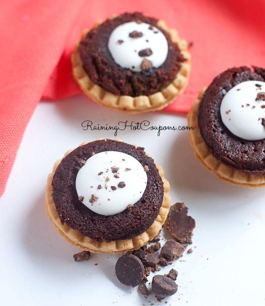Brownie & Cream Mini Tarts