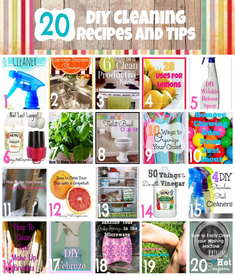 20 DIY Cleaning Recipes