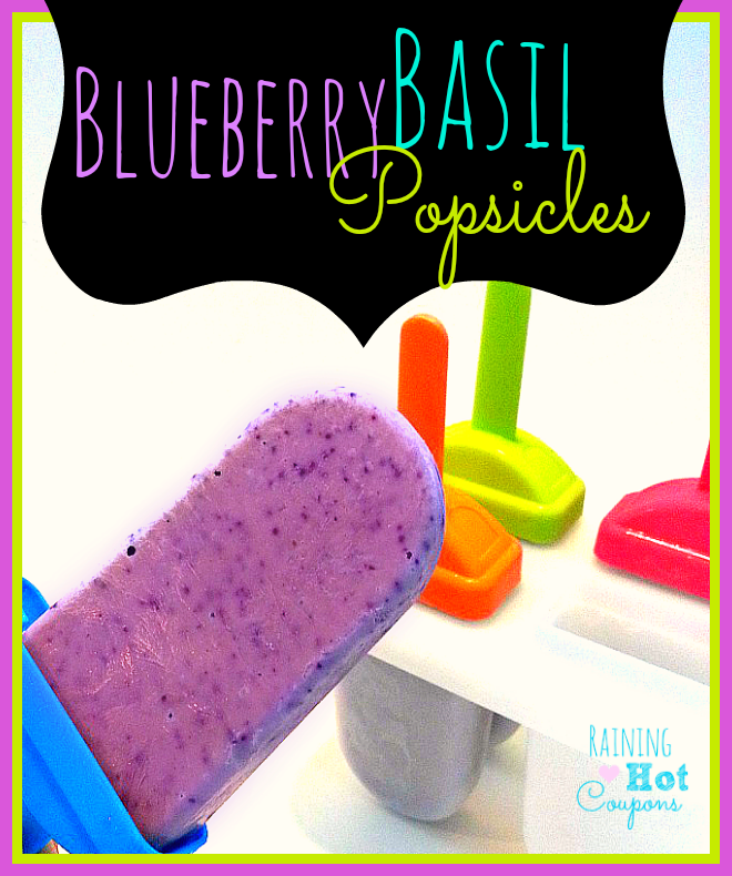 Blueberry Basil Popsicles Recipe