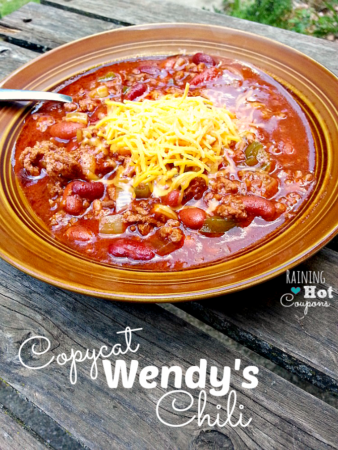 Copycat Wendy's Chili Recipe