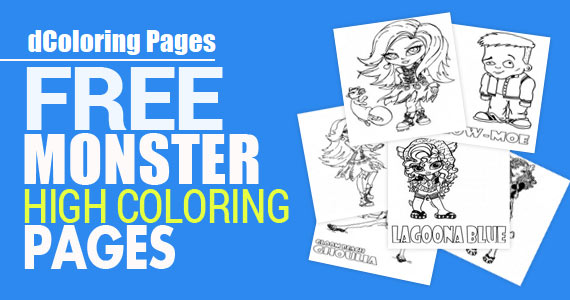 free monster high coloring pages 570x300 - Monster High Color Pages Free