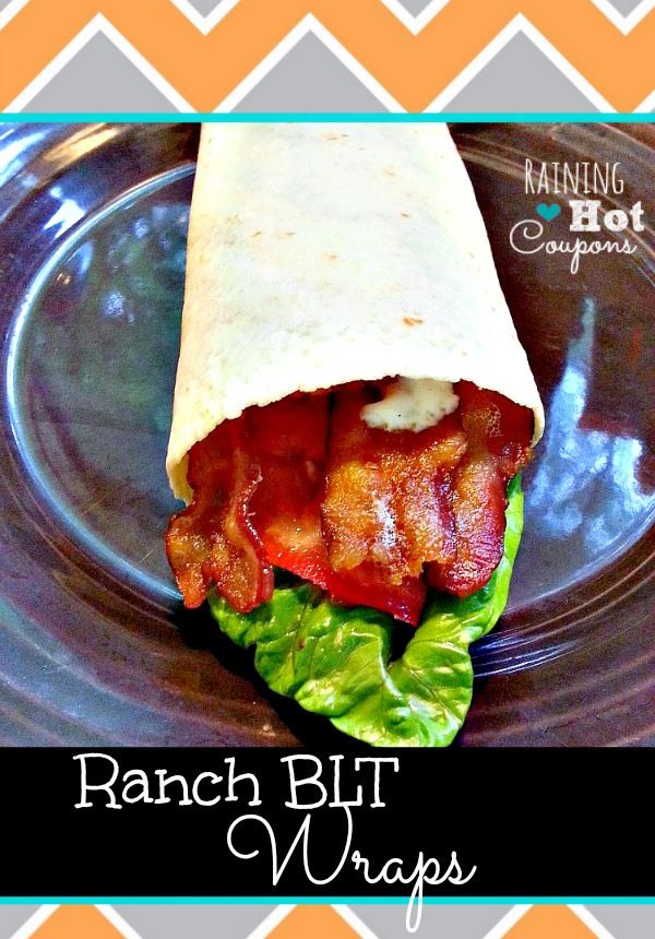 low cost recipe blt ranch wrap