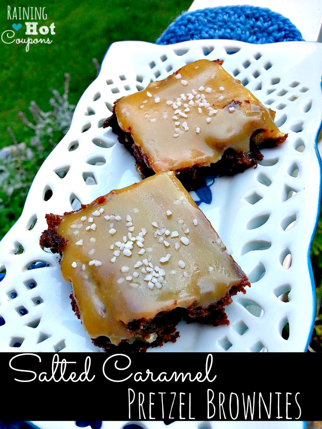 Salted Caramel Pretzel Brownie Salted Caramel Pretzel Brownies