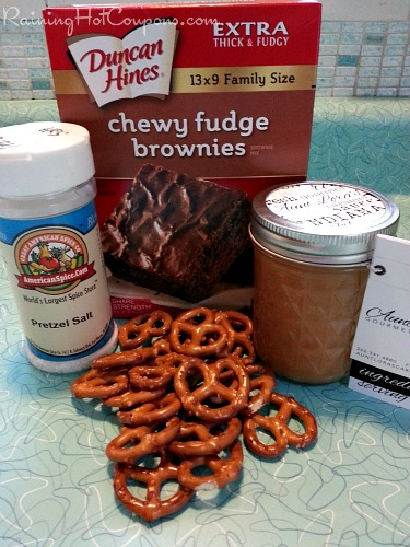 Salted Caramel Pretzel Brownies Ingredients Salted Caramel Pretzel Brownies