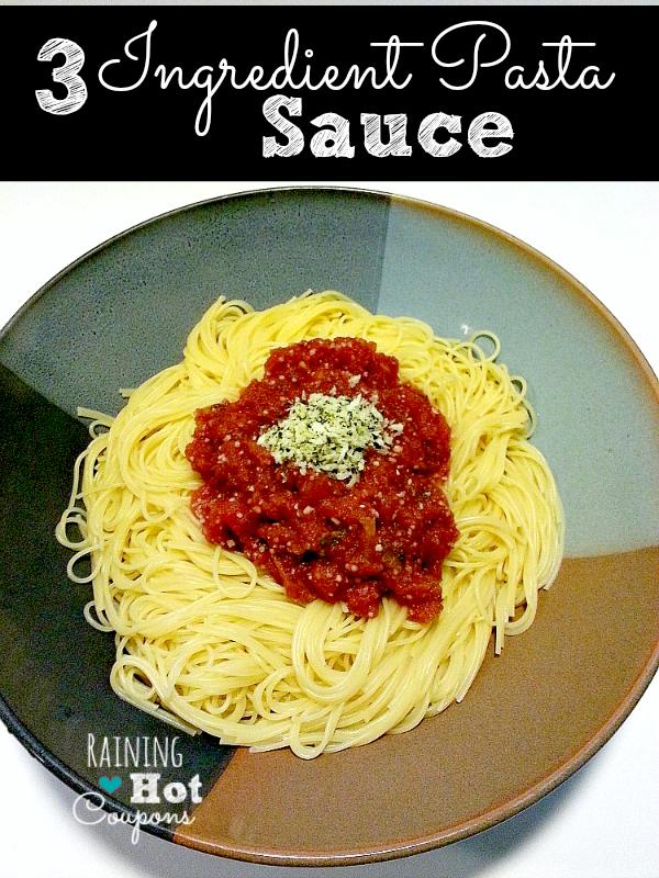 Three Ingredient Pasta Sauce Three Ingredient Pasta Sauce Recipe