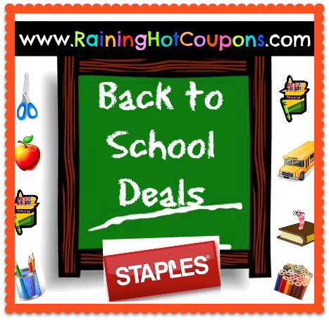 back to school deals STAPLES Staples Back to School Deals 7/7/13