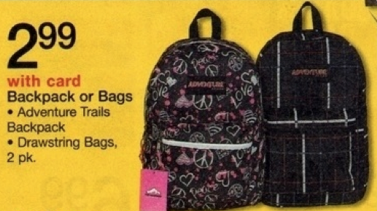 backpacks Backpacks Only $2.99 each + Other Back to School Items Only $0.17!