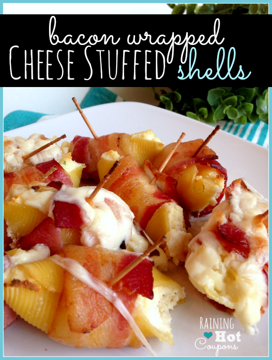 Bacon Wrapped Cheese Stuffed Shells Recipe