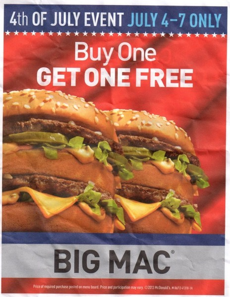 McDonalds: Buy 1 Get 1 FREE Big Mac!