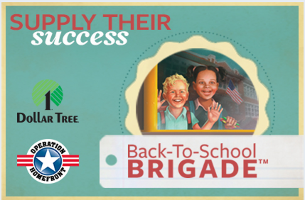 brigade Operation Homefront Back to School Brigade = FREE Backpacks and School Supplies for Military Children