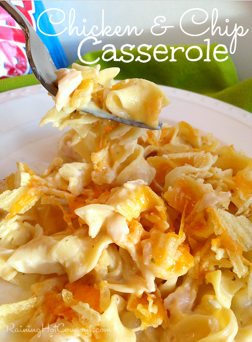 Chicken and Chip Casserole Recipe - I absolutely LOVE Chicken and Chip Casserole and actually any casserole dish. They are a great way to get rid of things in your pantry, are easy to make and taste delicious!