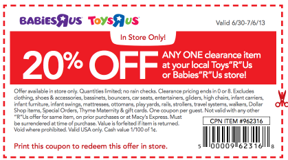 Toys r us coupon code 20 off