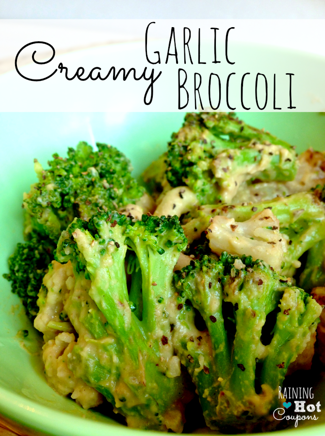 creamy garlic broccoli