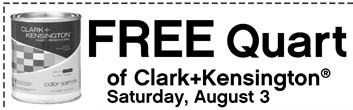 fps080313 large Ace Hardware: FREE Quart of Clark+Kensington Paint on 8/3!